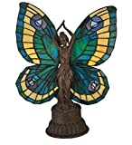 Meyda Tiffany 48019 Butterfly Lady Accent Lamp, 17'' Height