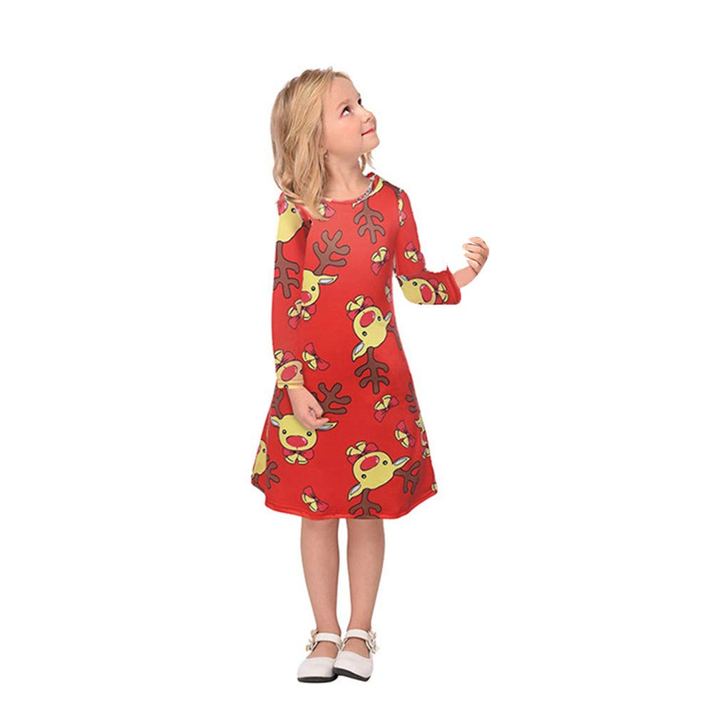 NUWFOR Family Matching Christmas Pajamas Set Pyjamas Xmas Sleepwear Holiday Pjs Polar Bear(Kid,C-120)