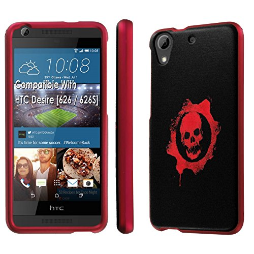 HTC Desire [626] Phone Case [SlickCandy] [Rose Pink] Hard Protector Snap Designer Shell Case - [Skull Emblem] for HTC Desire [626 / 626S] (626 Emblem compare prices)