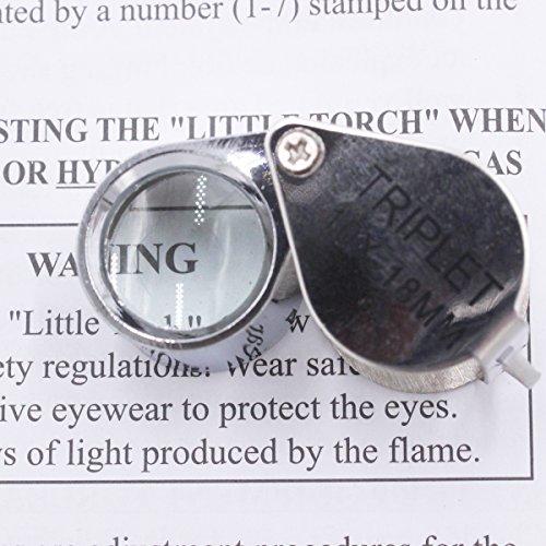 NIUPIKA 10x18MM Magnification Jewelers Eye Loupe Metal Mini Silver Pocket Magnifier Magnifying Glass