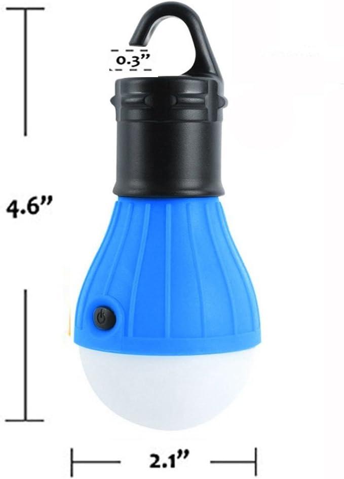 Farol LED para tienda de campaña, uso en interiores y exteriores, portátil, funciona con pilas (2 unidades)