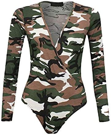 CELEB LOOK G87 Celebmodelook New Ladies Cross Wrap Over V Neck Plunge Leotard Bodysuit