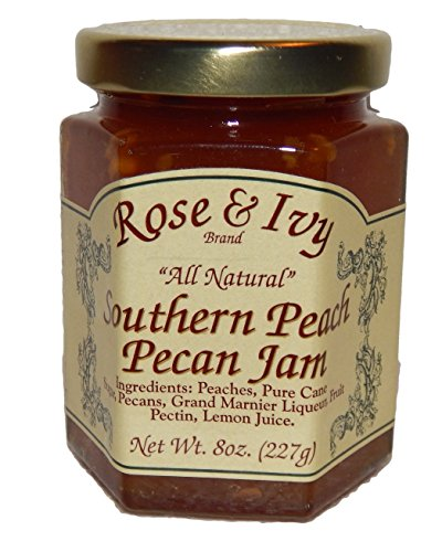 Rose & Ivy Southern Peach Pecan Jam - All Natural 8 Oz
