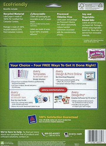 amazoncom 23 x 1 34 eco friendly return address labels office products