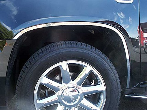 Stainless Steel Wheel Well Trim (ESCALADE 2007-2014 CADILLAC (6 Pc: Stainless Steel Wheel Well Accent Trim w/ 3M Adhesive & Black Rubber Gasket, 4-door, SUV) WQ47295:QAA)