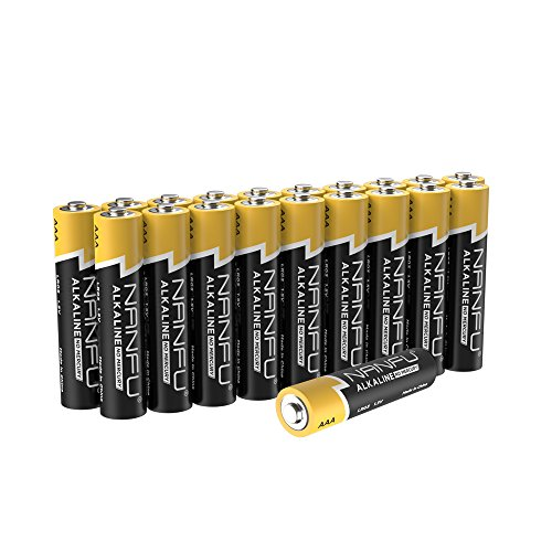 NANFU No Leakage Long Lasting AAA 20 Batteries [Ultra Power] Premium LR03 Alkaline Battery 1.5v Non Rechargeable Batteries for Clocks Remotes Games Controllers Toys & Electronic Devices