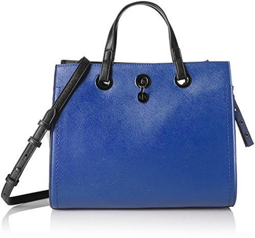 Price comparison product image A / X Armani Exchange Medium Saffiano Shopper,  Black / White / Blue