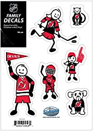 NHL Siskiyou Sports Fan Shop New Jersey Devils Family Decal Set Small One Size Team Color