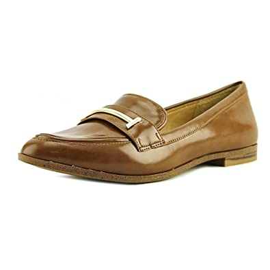 6aeaebdf994 Alfani Womens Ameliaa Leather Closed Toe Loafers