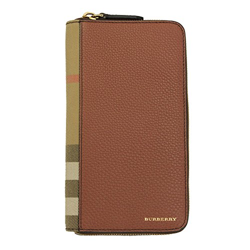 - Burberry House Check and Grainy Leather Ziparound Wallet 4061991