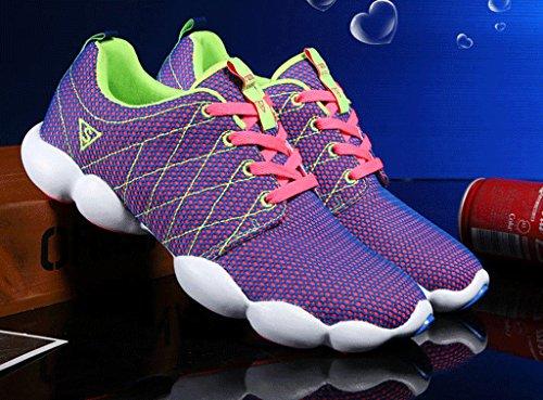 JiYe Colorful Damen Herren Jogging Walking Riding Laufschuhe, Tennis Skate Schuhe Fashion Sneskers Lila