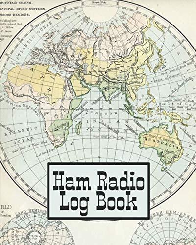 Ham Radio Log Book: Amateur Radio Operator Station Log Book Vintage World Map
