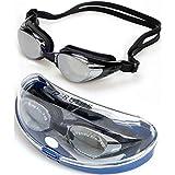 Adult Non-Fogging Swimming Goggles Swim Glasses Adjustable UV Protection Color:Black