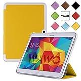 WAWO Samsung Galaxy Tab 4 10.1 Inch Tablet Smart Cover Creative Fold Case - Yellow