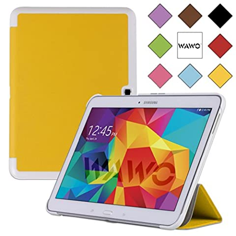 WAWO Samsung Galaxy Tab 4 10.1 Inch Tablet Smart Cover Creative Fold Case - Yellow (Tablet Samsung Tab4 10)