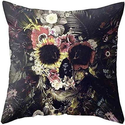Amazon.com: Ghost Marigold Skull Pillow 18