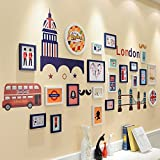 TIANTA- British Wind Photo Wall Frame Wall Living Room Bedroom European Children Photo Wall Wall Frame Combination adorn ( Color : #2 )