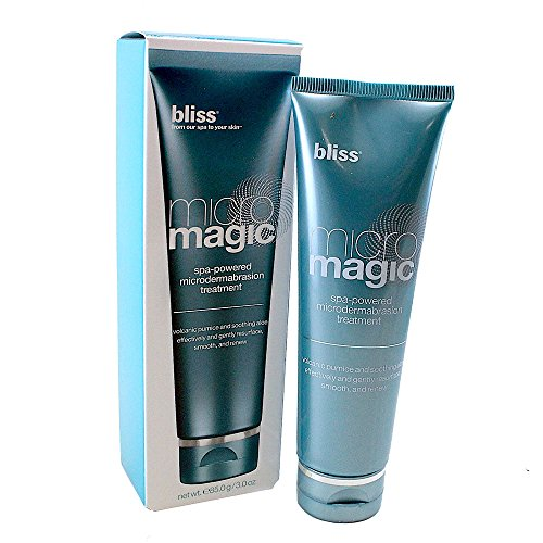 Bliss Micro Magic | Skin-renewing Microdermabrasion Scrub | Straight-from-the-Spa | Tightens Pores & Brightens Skin | Paraben Free, Cruelty Free | 3.4 fl oz