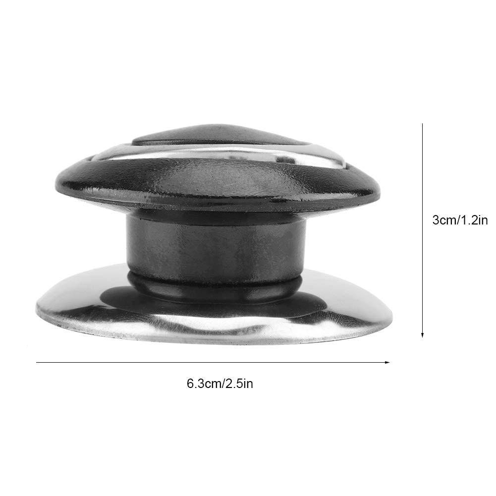 Tapa de hervidor con asas Tapa de olla negra pomos para ollas de cocina 5 pzas