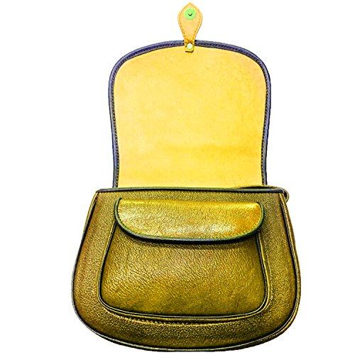 Koson in pelle stampata a yellow rose a mano borsetta a tracolla messenger bag