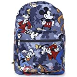 Disney Mickey Mouse Friends Large School Backpack All Over Prints Bag Grey