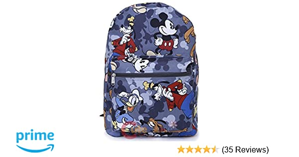 Amazon.com | Disney Mickey Mouse Friends Large School Backpack All Over Prints Bag Grey | Kids Backpacks