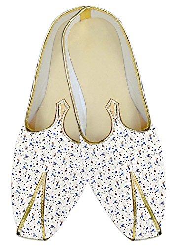 Diseños Boda Hombres Blanco Zapatos Azul MJ017031 INMONARCH wEIqTW6awx