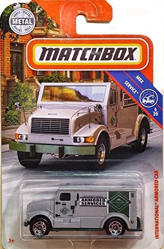 Matchbox 2018 MBX Service Series 6/20 - International Armored Car - Gray (23/125)