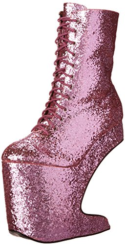 Pink Platform Boots - Bettie Page Women's Bp579-chablis, Pink, 9 M US