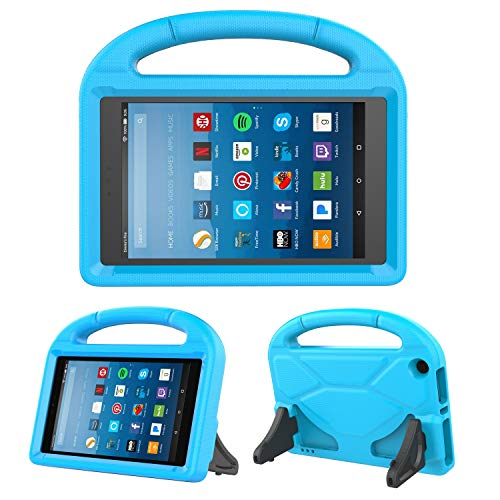 Kids Case for Fire HD 8 - TIRIN Light Weight Shock Proof Handle Kid -Proof Cover Kids Case for Amazon Fire HD 8 Tablet (7th and 8th Generation Tablet, 2017 and 2018 Release), Blue