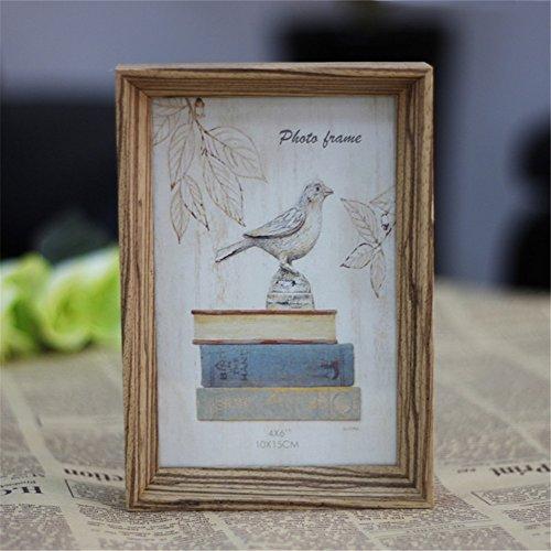AS Vintage Wood Photo Frame Poet Book Natural Colour Picture Frames