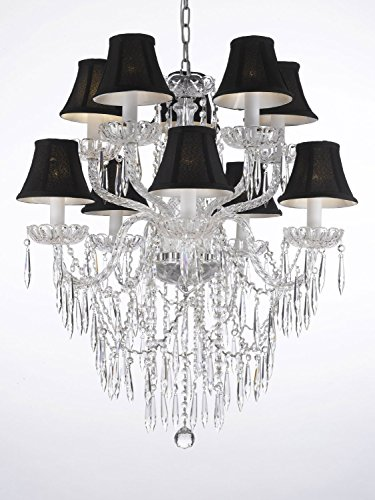 - Empress Crystal (tm) Icicle Waterfall Chandelier Lighting Dining Room Chandeliers H 30