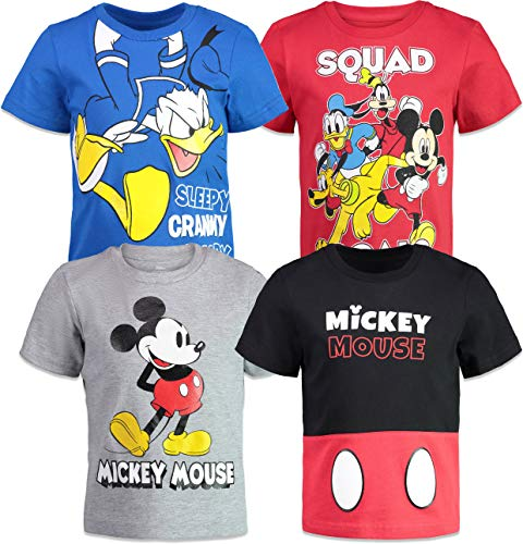 Disney Mickey Mouse Baby Boys 4 Pack T-Shirts Donald Duck Goofy Pluto 24 Months