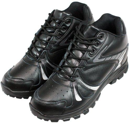 Calden–MD005–9,7cm Grande Taille–Hauteur Augmenter Chaussures ascenseur (Noir à Lacets Sneakers)
