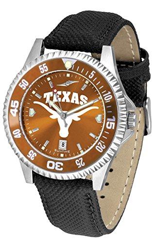 Texas Longhorns UT NCAA Mens Leather Anochrome Watch ()