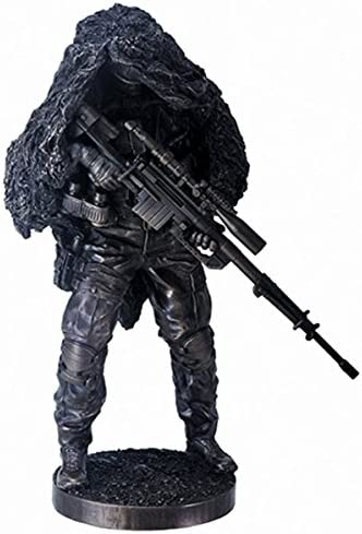 YTC 12.5 Inch Concealed at Ready Sniper Soldier Figurine Display