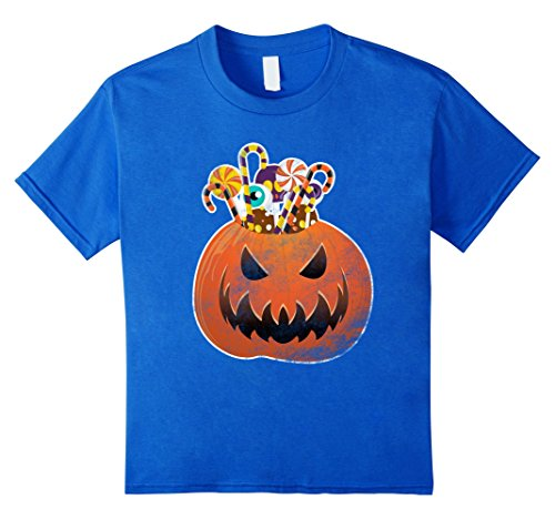 Scary Costumes Homemade Halloween (Kids Scary Halloween Costumes Shirt Funny Cute Pumpkin & Candies 12 Royal)