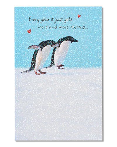 American Greetings Card Cardstock Paper, Penguins For Couple (5760157)