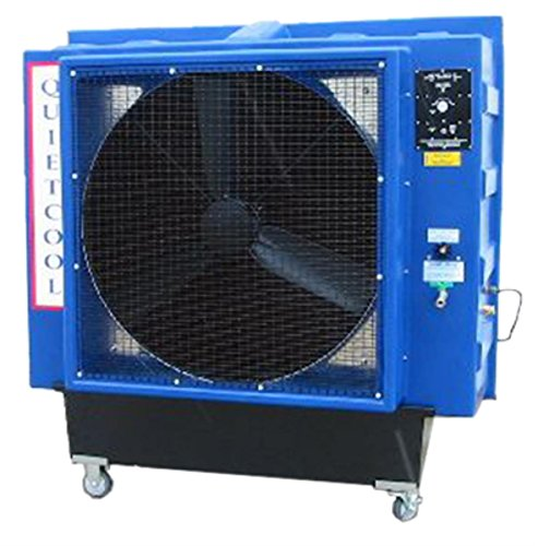 (Quietaire QC36DVS 36 Inch Direct Drive Portable Evaporative Cooler With High Efficiency Cooling Pads)