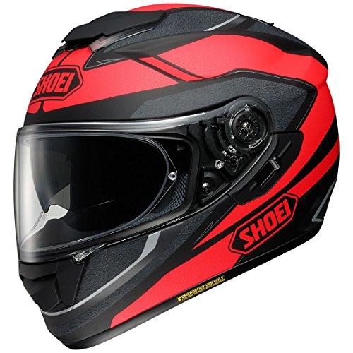 (Shoei GT-Air Swayer Matte Black/Red Full Face Helmet - Large)
