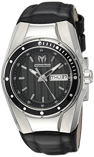 Technomarine Women's 'Cruise' Quartz Stainless Steel and Silicone Casual Watch, Color:Black (Model: TM-115386)