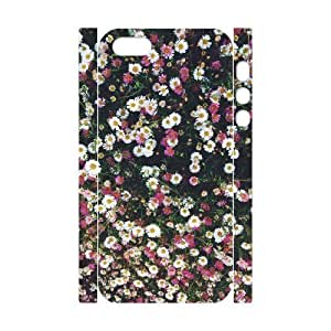 Cool Painting Daisy DIY 3D Cover Case for Iphone 5,5S,personalized phone case case559741