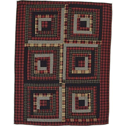 VHC Brands Rustic & Lodge Pillows & Throws - Cumberland Red Quilted Throw Chili Pepper [並行輸入品] B07RDX81NF