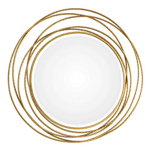 Ring Swirl Open (Gold Swirl Rings Modern Wall Mirror | 39
