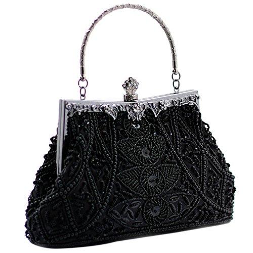 Belsen Women's Vintage Bead Sequin Evening Handbags ()