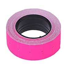 Poity 500 Pieces/roll Colorful Price Label Paper Tag Mark Sticker for MX-5500 Labeller Gun Hot Pink