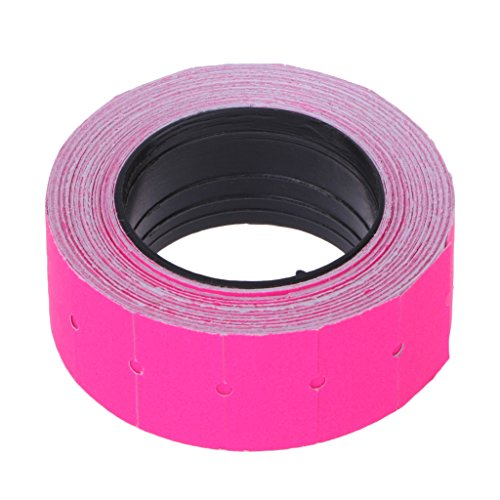 yaonow 500pcs/roll Colorful Price Label Paper Tag Mark Sticker for MX-5500 Labeller Gun (Hot Pink)