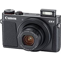 Canon Powershot G9 X Mark II Point & Shoot Digital Camera Bundle w/ Tripod Hand Grip , 64GB SD Memory , Case and More (Black) by Canon