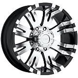 amazon truck suv wheels automotive street off road 1995 Chevy Blazer 4x4 pro p wheels 8101 89570 xtreme alloys series 8101 gloss black w machined finish