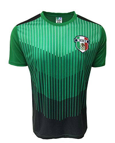 Icon Sports Mexico Training Jersey for Kids and Adults Sizes, Mexico T-Shirt (Youth Small 4-6 Years)